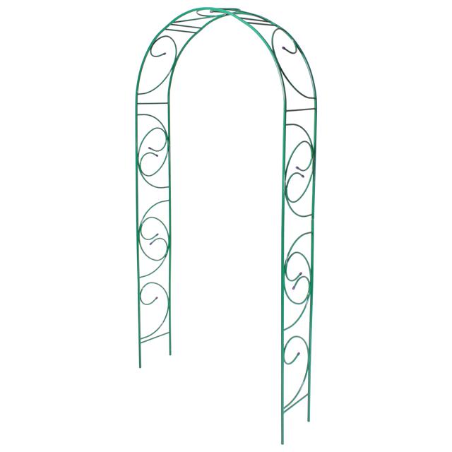 арка садовая разборная Узор-1 120х30х250см металл зелёная