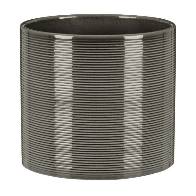 кашпо керамическое Glass Grey 828 d-16 см
