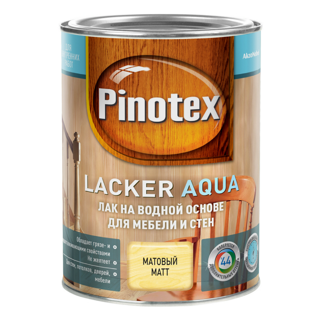 лак д/стен и мебели PINOTEX Lacker Aqua 1л матовый, арт.5254104 - фото в каталоге Максидом