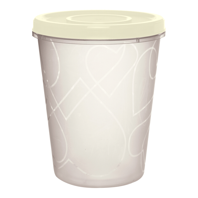 контейнер д/продуктов GIARETTI Сливочный крем 1л 12х12х14,5см пластик кругл. с завинч. крышкой банка д продуктов phibo christmas 1л круглая с завинч крышкой пластик