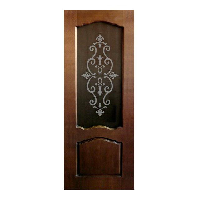 полотно дверное шпон темный дуб ТПО(Р)-80 со стеклом полотно дверное перфекта по 2х0 8м клен серебристый ламинати