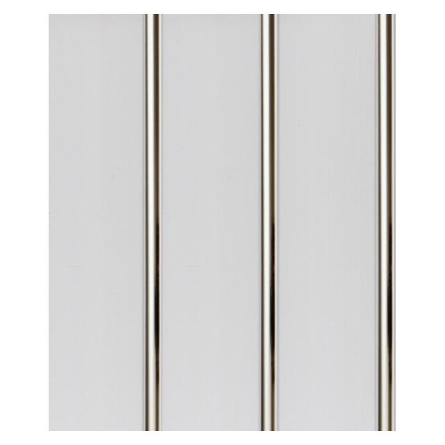 панель ПВХ Луиза 3-х ручейковая серебро 240х3000х9мм стенка витрина луиза 1600