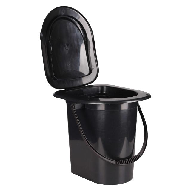 туалет-ведро Эконом 17л пластик альтернатива ведро туалет полянка 17л