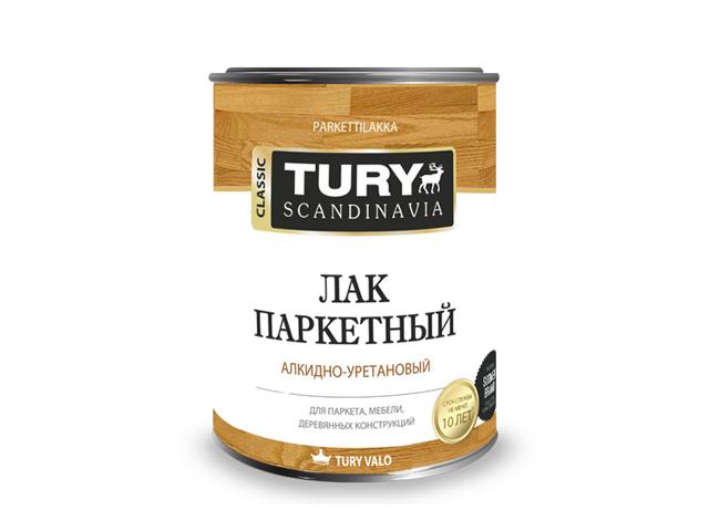 лак паркетный TURY глянц. 0,9л, арт.лак TURY гл /0.9