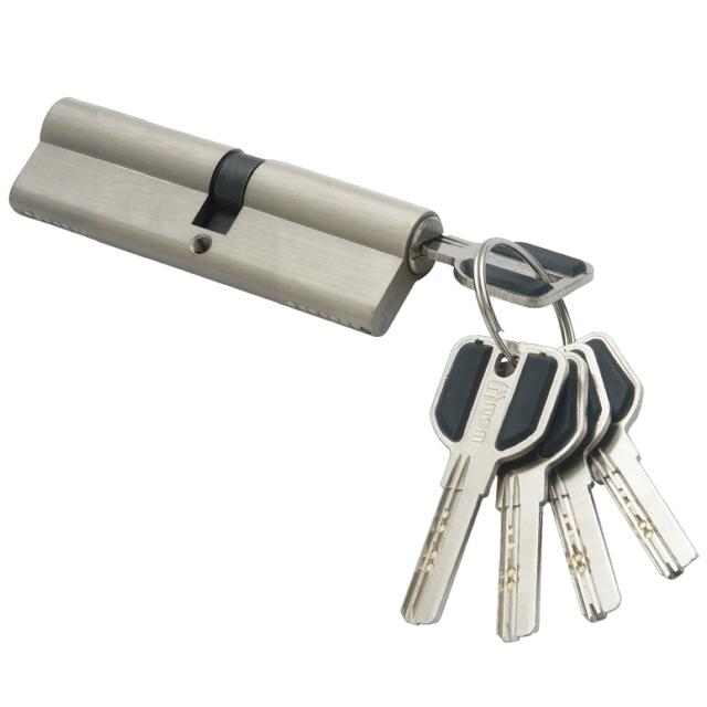 цилиндр ключевой MSM 100мм 50+50 матовый никель