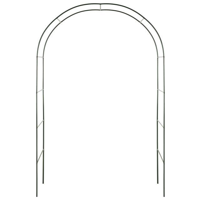 арка садовая 140х37х240см разборная металл зелёная