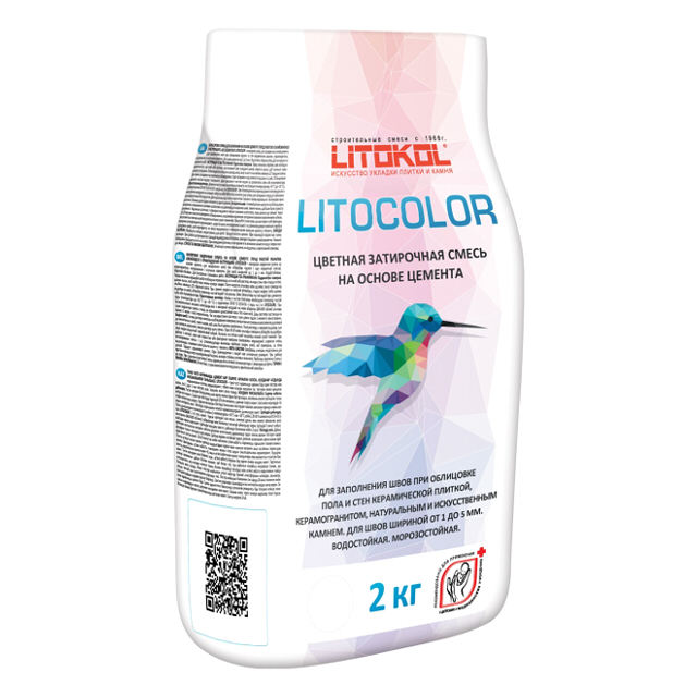 затирка д/швов LITOKOL Litocolor 1-5мм 2кг темно-серый, арт.С12/2al затирка д швов litokol litocolor 1 5мм 2кг жасмин
