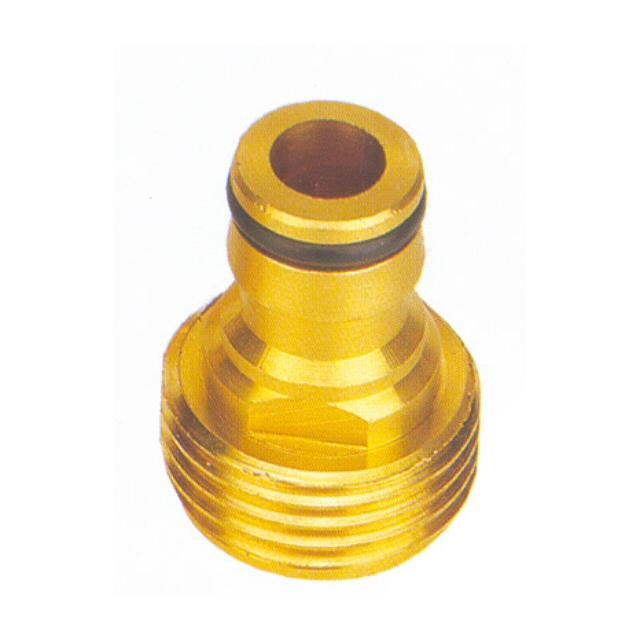 адаптер FRUT 3/4 латунь наруж. резьба разбрызгиватель импульсный frut на металлической пике латунь
