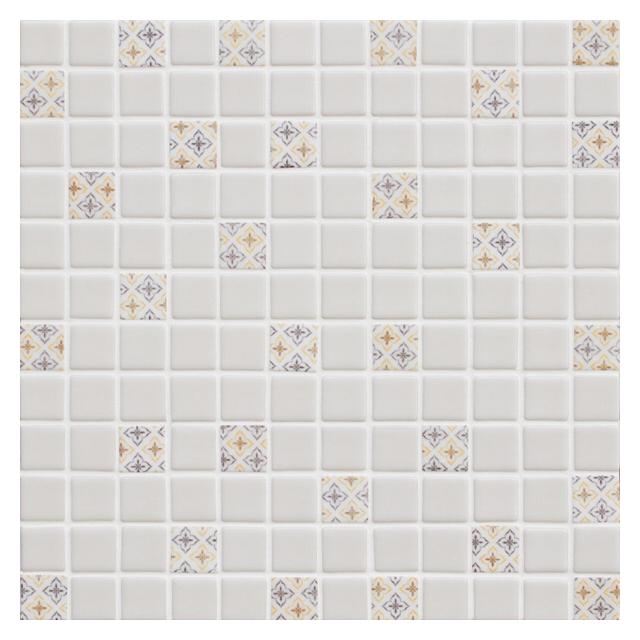 мозаика стеклянная 31,7х31,7х0,4 HomeDecor Light Beige, св-б