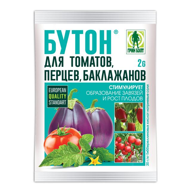 Фото - регулятор роста Бутон для томатов, перцев, баклажанов, 2 г почвогрунт для томатов перца и баклажанов богатырь 20л
