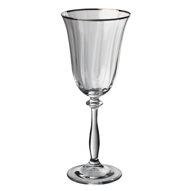 набор бокалов CRYSTALEX Ангела оптика отводка платина 6шт 250мл вино стекло