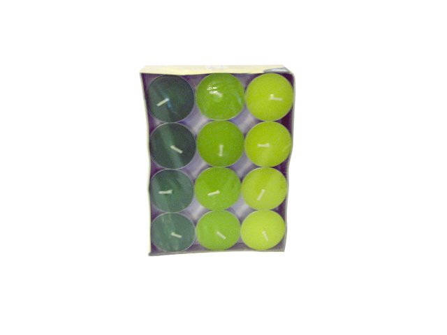 свечи чайные PAP-STAR 24шт. 3,7х1,4см цв. в ассорт. б/аромата 4ч/г