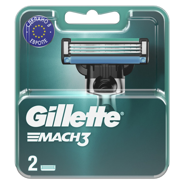 кассеты GILLETTE Mach 3 2шт