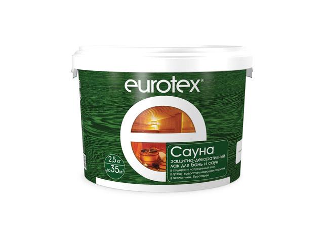 лак д/сауны EUROTEX 2,5кг, арт.80199