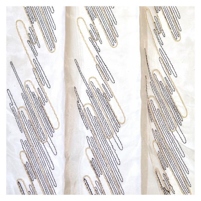 штора тюлевая на шт.ленте ТАС Meroni - V1 органза 300х265см белая, арт.GS0147