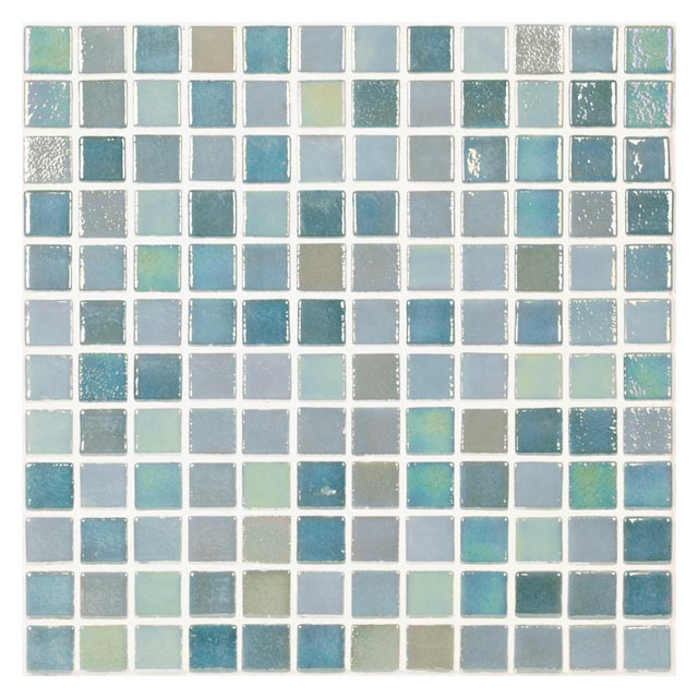 мозаика стеклянная 31,7х31,7х0,4 Perla Green, зел-голубая