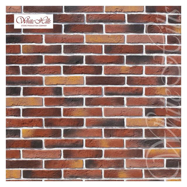 плитка декоративная бетонная WHITE HILLS Бергамо Брик коричнево-медная