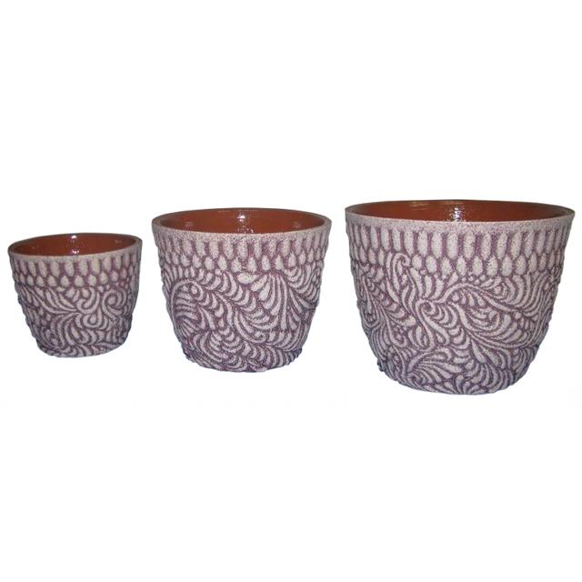 горшок керамический Хохлома фиолет 2л квас традиционный о 2л