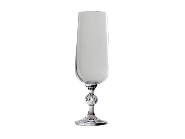 набор бокалов CRYSTALEX Клавдия без декора 6шт 180мл шампанское стекло