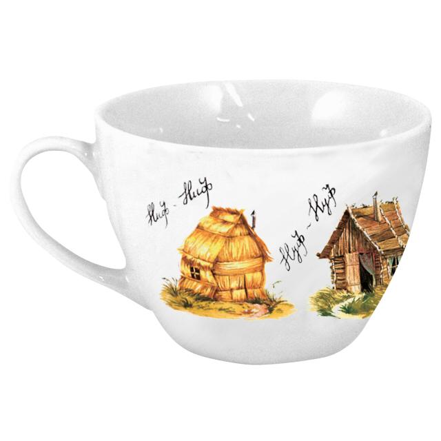 чашка-джамбо Домики 500мл фарфор