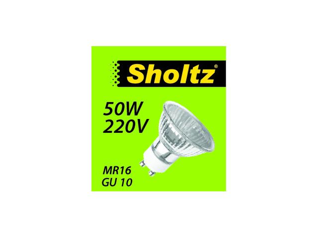 лампа галогенная SHOLTZ 50Вт GU10 500лм 2700K 220В спот