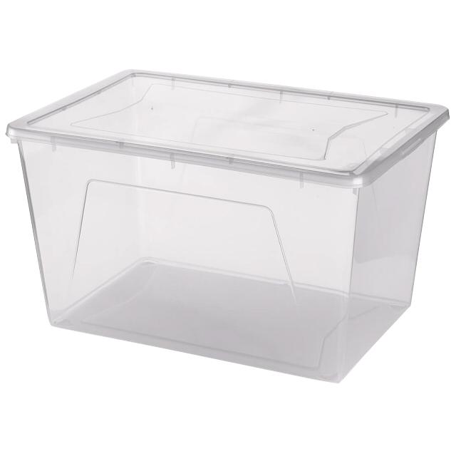 контейнер gensini хозяйственный 27х19 4х11 6 см 5 л для бытовых нужд пластик в ассортименте без крышки контейнер GENSINI, 55х37,5х31,5 см, 46 л, для бытовых нужд, пластик, с крышкой