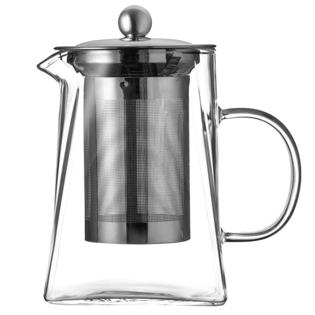 чайник заварочный WALMER Spirit 0,8л стекло, нерж.сталь