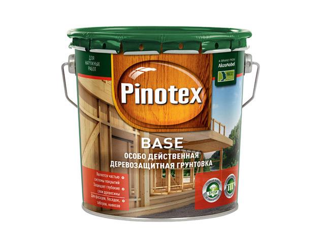 грунт-антисептик PINOTEX Base 2,7л бесцветный, арт.5195506