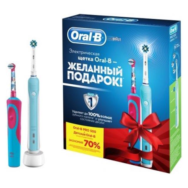 щетка зубная ORAL-B PC500/D16+Vitality D12.513K Frozen Kids детская детская электрическая зубная щетка oral b vitality frozen