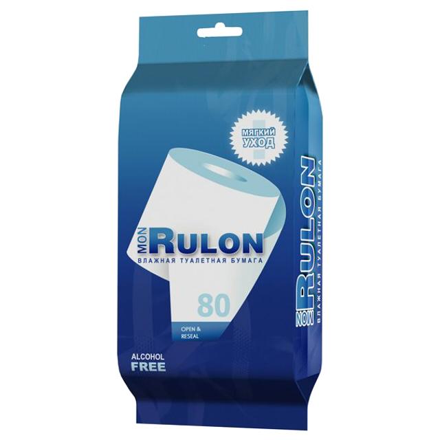 бумага туалетная влажная Mon Rulon влажная, 80 шт
