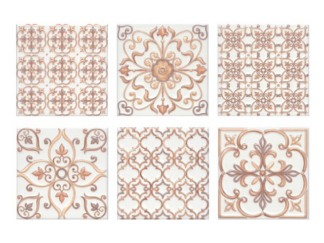 плитка настенная 20х20 СУРРЕЙ орнамент, бежевый напольная плитка kerama marazzi бардолино бежевый 40 2x40 2