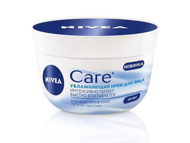 крем для лица NIVEA Care Увлажняющий для всех типов кожи 100мл