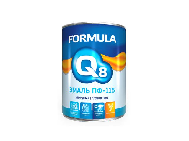 эмаль ПФ-115 Formula Q8 черная 1,9кг эмаль пф 115 бирюзовая престиж 6кг