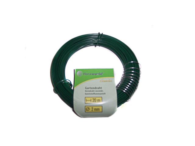 проволока для подвязывания зеленая 2мм 20м изолента еврогарант желто зеленая 19мм х 20м