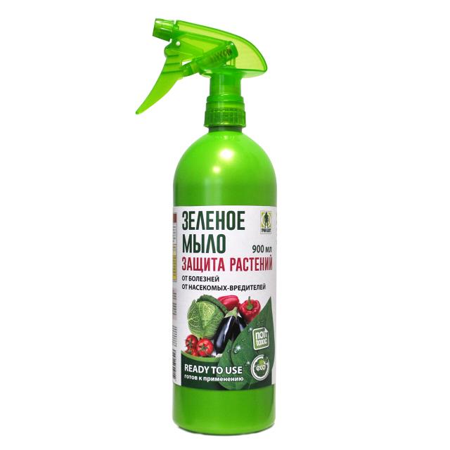 средство для защиты растений от вредителей и болезней Зелёное мыло 900мл