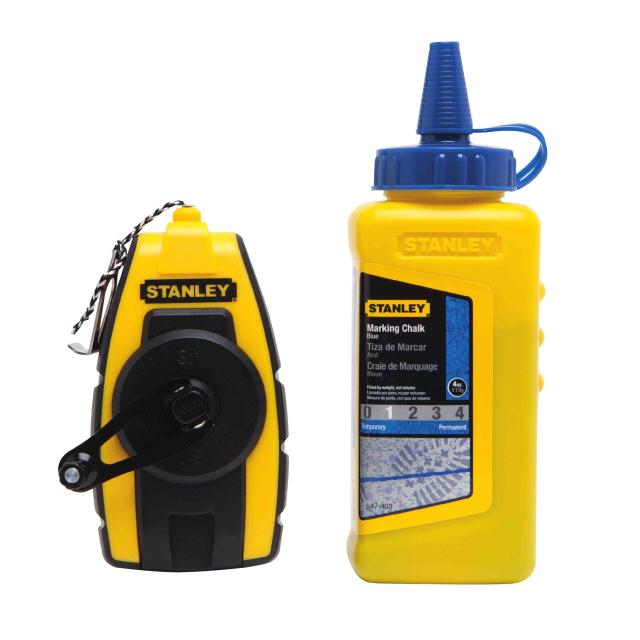 шнур разметочный STANLEY 9м + синяя краска 115 гр stanley 0 47 443 разметочный набор yellow
