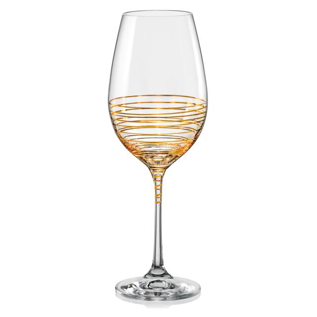набор бокалов CRYSTALEX Виола Золотая спираль 2шт 350мл вино стекло
