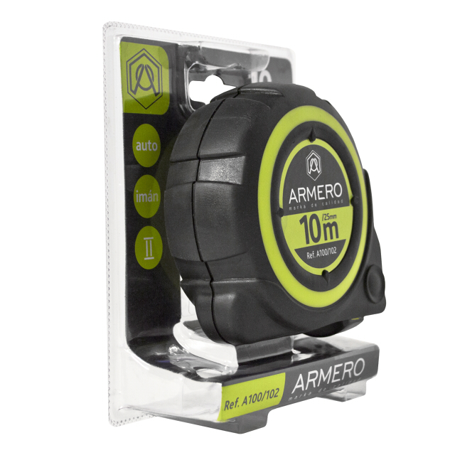 рулетка ARMERO 10мх25мм магнитная с автостопом