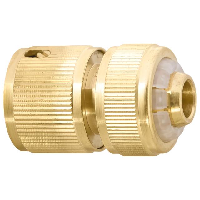 Фото - соединитель быстросъемный для шланга Palisad латунь 1/2 аквастоп соединитель для полива palisad латунный быстросъемный аквастоп 66265