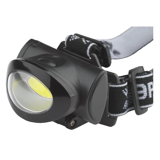 фонарь налобный ЭРА GB-601 5Вт COB 3хААА пластик черный