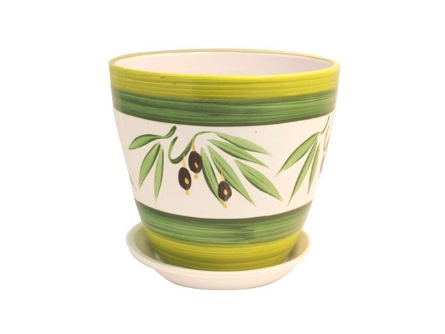 горшок керамический Бутон Оливки на белом 1л горшок керамический бутон бэлла 03 5 4л