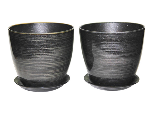 горшок керамический /Бутон черн/золото-серебро/ 2л насос unipump акваробот jet 100 l г а 2л 45190