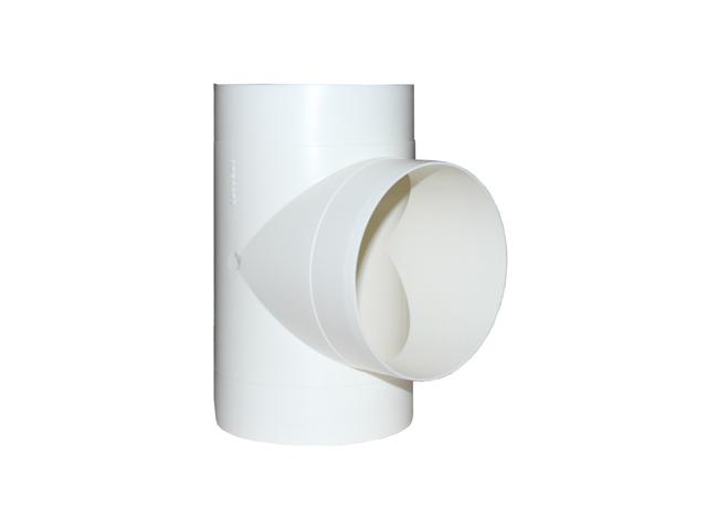 тройник ЭРА D125мм пластик белый