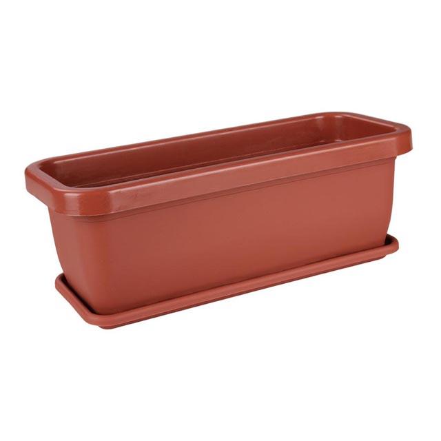 ящик балконный с поддоном, 36х15х12,5 см, пластик