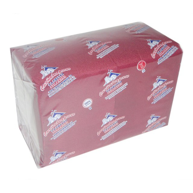 салфетки Бордовые 1-слойные 24х24см 400шт
