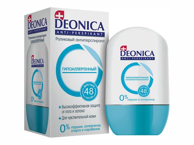 дезодорант женский DEONICA Гипоаллергенный, 45 мл ролик