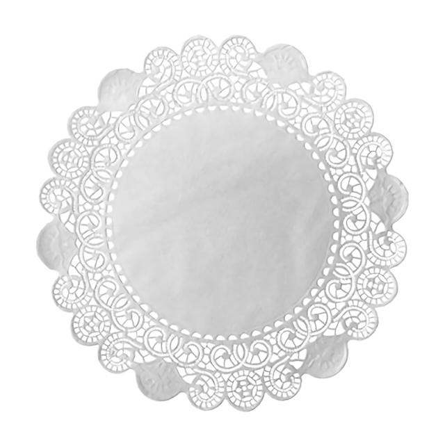 салфетки DUNI Кружевные 12 см 9-сл. 250шт.  белый бумажные салфетки duni салфетки 3 сл 33 см