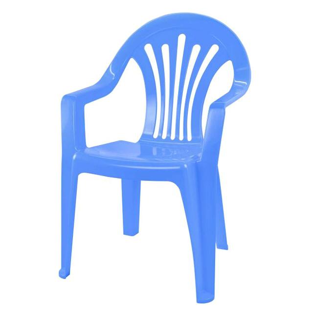 кресло пластиковое детское 37х35х57см голубой
