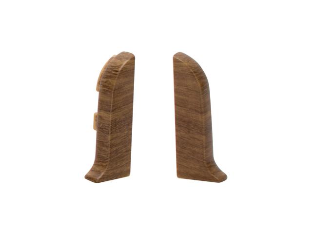 Фото - заглушки для плинтуса ПВХ SALAG NGF 56мм Дуб польский левая+правая заглушки для плинтуса пвх salag ngf 56мм дуб каньон левая правая