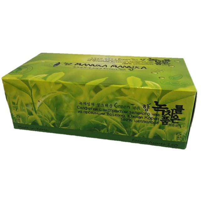 салфетки косметическиеManuka Green Tea 150шт